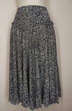 MAX STUDIO Size M Black Beige Stretch Knit Skirt
