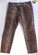 7 SEVEN LUXE Jean SZ 20 Leopard Print JeanSkinny Cigarette Fit NWT $89