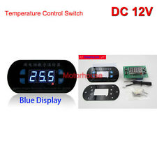 Temperature Control Switch DC12V Blue Display Adjustable Micro Timer Thermostat