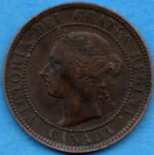 Canada 1893 1 Cent One Large Cent Coin - EF