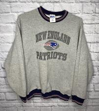 Vintage New England Patriots Sweatshirt Crewneck Youth XL Gray Pro Player Vtg