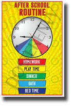 After School Routine - NEW Classroom Motivational Poster - cm1254