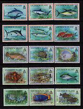 Ascension 1991 Fish Definitives - Set of 15 - SG 554/568 - FM