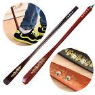 Flexible Long Handle Shoehorn Shoe Horn AID Stick Wooden 55cm/21.5''