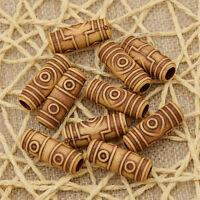 10 Pcs Set Acrylic Dreadlock Dread Hair Braid Tube Hair Beads Clip Cuff 6mm Hole