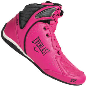 Everlast Strike Womens Boxing Shoes Training Fight Pink Black
