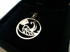 CLEARANCE - ITALIAN 18ct ROSE GOLD & SILVER CIRCLE OF LIFE Pendant