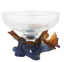 Daum Crystal and Pâte De Verre Papillon Coupe Art Deco Style Bowl