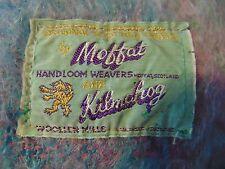 Blanket 100% Mohair rainbow pile Moffat made Scotland hand loomed weavers shawl