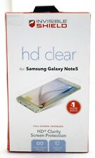 NEW Zagg InvisibleShield HD Clear GALAXY NOTE 5 Screen Protector Clarity Samsung