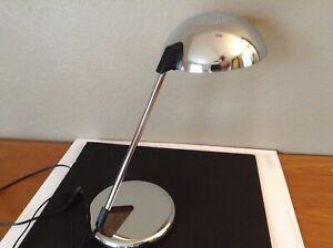 Vintage Chrome Space Age Kovacs Mid Century Modern 1980 Memphis UFO Desk Lamp