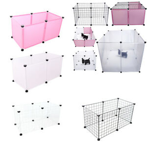 6 Panels Pet Dog Hamster Pen Small Animal Playpen Indoor/Outdoor Enclosure Cage