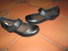 Chaussure Noire,en cuir,T38,marque Signora,quasi neuve!