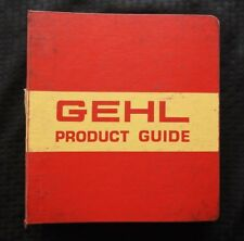 1978-80 GEHL 4500 4600 SKID STEERS 1600 1400 1450 1850 BALER DEALER SALES MANUAL