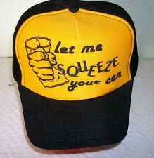 VINTAGE 70s LET ME SQUEEZE YOUR CAN Mesh Trucker Snap Back Hat Base ball Cap