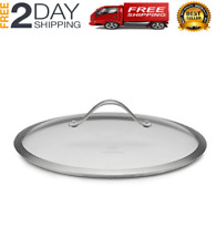 Calphalon 12 Inch Contemporary Hard Anodized Aluminum Cookware Lid Glass Steel
