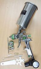 HVLP Air Spray Paint Gun W/ Air Regulator 1.4 mm 1.7mm Tips Nozzle 35oz MetalCan