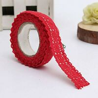 1x Decoration Band Christmas Ribbon Lace Wedding Gift on 1.8 * 170cm Red O9F2
