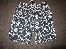 BNWT TopShop Shorts UK 14 Culottes Black White Tropical Floral High Waist Dressy
