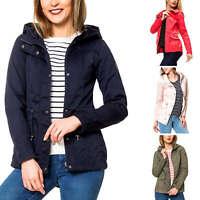 Only Damen Parka Kurzmantel Kapuzenjacke Übergangsjacke Jacke Color Mix NEU