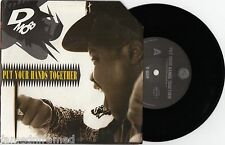 """D MOB - PUT YOUR HANDS TOGETHER - 7"""" 45 VINYL RECORD w PICT SLV - 1989"""