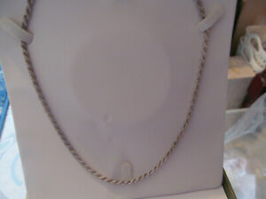"""925 STERLING SILVER 24"""" ROPE DESIGN CHAIN NECKLACE PERFECT CONDITION BOXED"""