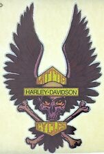 Original Harley Davidson Skull and Crossbones Wings Iron On Transfer Motorcycle