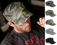 Classic Army Plain Hat Cadet COMBAT FIELD MILITARY CAP STYLE PATROL Baseball