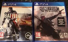PS4 GAMES BUNDLE BATTLEFIELD 4 & HOMEFRONT THE REVOLUTION VERY GOOD CONDITION