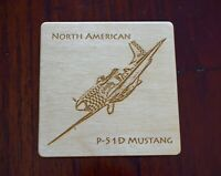 Wooden Aircraft Coasters - Engraved & Personalised - Mustang, Lancaster & More