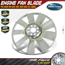 A-Premium Engine Radiator Cooling Fan Blade for Dodge Ram 1500 2500 3500 2009-2010 Ram 1500 2500 3500 4500 5500 2011-2016 4.7L 5.7L 6.4L