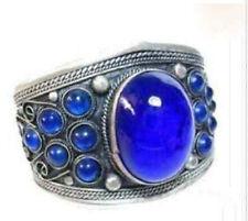 Chinese Jewelry Archaize tibet blue bead bracelet cuff