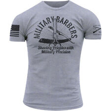 Grunt Style Military Barbers T-Shirt - Heather Gray