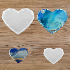 Agate Coaster Resin Casting Mold Silicone Heart Jewelry Making Epoxy Mould Tools