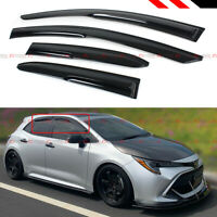 FOR 19 TOYOTA COROLLA HATCHBACK SE XSE 3D WAVY WINDOW VISOR RAIN GUARD DEFLECTOR