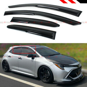 FOR 2019-2021 COROLLA HATCHBACK SE XSE 3D WAVY WINDOW VISOR RAIN GUARD DEFLECTOR