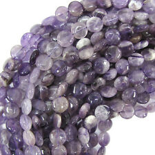 "10mm amethyst coin beads 15.5"" strand"