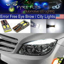 4x 6000K Xenon White LED Lights CANbus Error Free W204 City Eyebrow Eyelid #4xX7