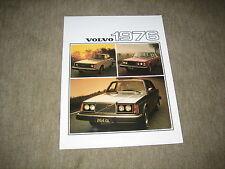 1976 Volvo 242, 244, 245, 264, 265 USA Prospekt Brochure, 8 Seiten