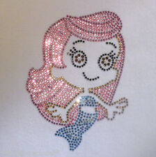 """5.5"""" Bubble Guppy iron on rhinestone transfer applique bling patch"""