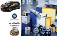 FOR CITROEN DS3 1.4 VTi 95BHP 2009--> OIL AIR POLLEN FILTER ( 3 ) KIT