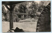 View of Falls from Old Mill Wheel Tarrytown NY New York old Vintage Postcard B18