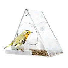 Wild Table Hanging Suction Perspex Clear Viewing Seed Tool Window Bird Feeder