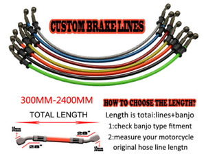 Motorcycle Brake Clutch Braided Oil Hose Line Pipe Tube Hydraulic Replacement