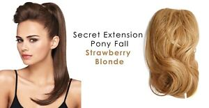 """Secret Extensions Daisy Fuentes 22"""" Pony Fall Synthetic Hair Strawberry Blonde"""