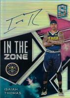 2018-19 Panini Spectra In The Zone Autographs Nebula #22 Isaiah Thomas Auto /1
