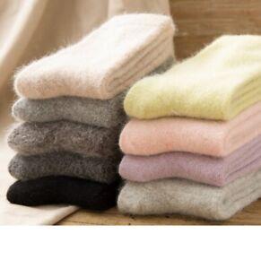 5/20 Pairs Luxury 100% Angora PureWool Cashmere Women Woman Socks Warm Gift 5-8
