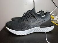 Nike Epic React Flyknit Running Shoes Black Dark Grey Womens 11.5 AQ0070