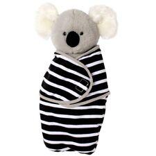 Manhattan Toy Koala Swaddle Baby Cloth Gray Black White Stuffed Animal 6m+ NEW