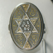 JUGENDSTIL 835 SILBER 916er GOLD Ring JUDAIKA jüdisch HOCHZEITSRING SEHR SELTEN